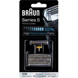 photo de Braun 51S Combi Pack silver, grille et couteau pour rasoir électrique séries 5 version 2008 / Activator / 360 complète