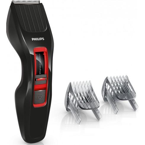 photo de Tondeuse cheveux et barbe PHILIPS HC3420/17 rechargeable et secteur noire et rouge