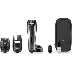 photo de BRAUN BT5090 Tondeuse barbe Silver 2 en 1 avec sabot cheveux recharg/secteur