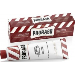 photo de Crème à Raser Rouge Barbe Dure tube 150 ml PRORASO
