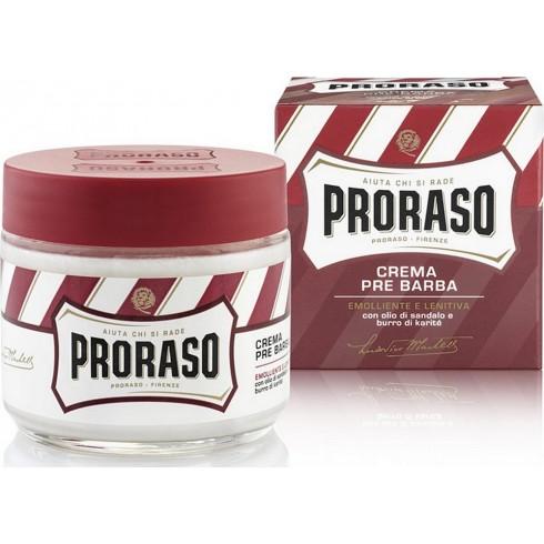 photo de Crème Avant Rasage PRORASO Rouge Huile de Santal & Beurre de Karité 100ml