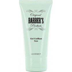 photo de Gel à barbe coiffant et colorant noir 50ml BARBER'S