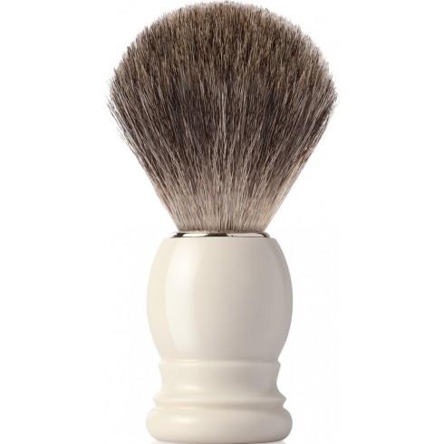 photo de Blaireau IVOR Best Badger pur poil gris, Taille 12 manche ivoire MONDIAL 1908