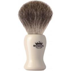 photo de Blaireau BAYLIS Best Badger pur poil gris,Taille 10 manche ivoire MONDIAL 1908