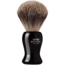 photo de Blaireau GIBSON Best Badger pur poil gris,Taille 10 manche noir MONDIAL 1908