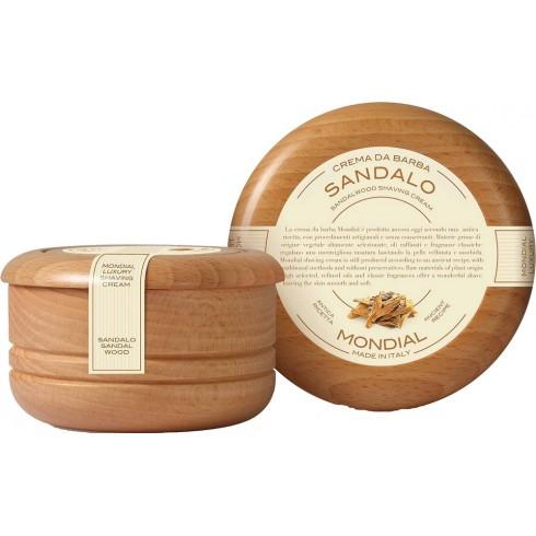 photo de Savon-Crème à barbe SANDALO, bois de santal, bol & couvercle bois MONDIAL 1908