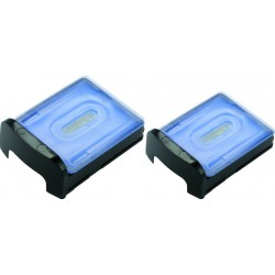 photo de Panasonic WES035K503 Lot de 2 cartouches nettoyantes pour bloc chargeur pour rasoir électrique Panasonic