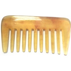 photo de Peigne Afro rateau à 9 dentures larges en corne véritable, 9.5 x 5.1cm LORDSON
