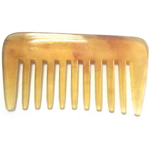 photo de Peigne Afro rateau à 9 dentures larges en corne véritable, 9.5 x 5.1cm LORDSON