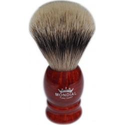 photo de Blaireau Best Badger pur poil gris, Taille XL 16, manche en racine de bruyère (PB-41-R-XL-A) MONDIAL 1908