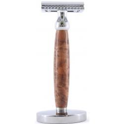 photo de Rasoir de Sécurite manche en bois de Thuya (RSTH) Gentleman Barbier