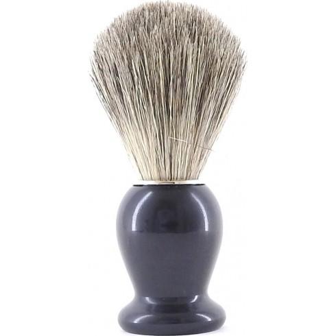 photo de Blaireau Best Badger pur poil gris, Taille 12 manche Ebène (BEBG12) Gentleman Barbier