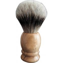 photo de Blaireau Best Badger pur poil gris, Taille XL 16, manche olivier (PB-41-O-XL-A )MONDIAL 1908
