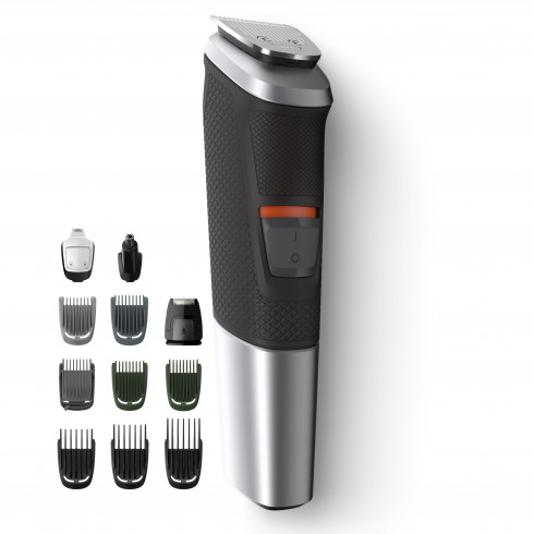 photo de Tondeuse multifonction Philips MG5740/15, 12 en 1 visage, cheveux et corps, rechargeable