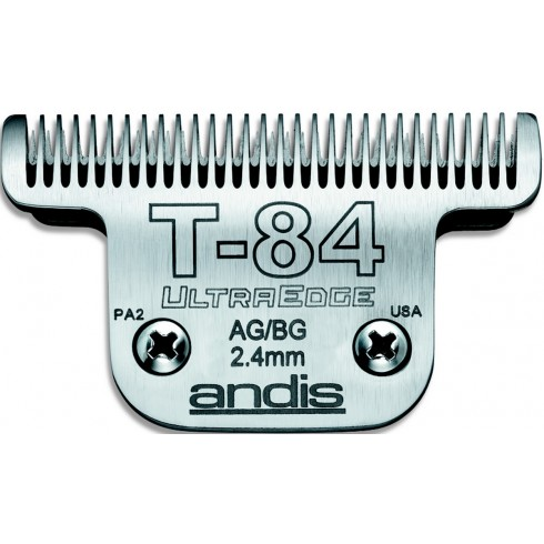 photo de Lame extra-large 2.4 mm N° T84 ANDIS, TC21641 pour tondeuse PRO AGC/AGR/BGC/MBG/SMC
