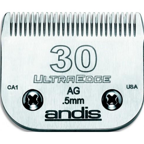 photo de Lame 0.5mm N°30 ANDIS, tête de coupe TC64075 pour tondeuse PRO AGC/AGR/BGC/MBG/SMC