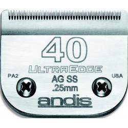 photo de Lame 0.25mm N°40SS inox chirurgicale ANDIS, tête de coupe TC64084 pour tondeuse PRO AGC/AGR/BGC/MBG/SMC