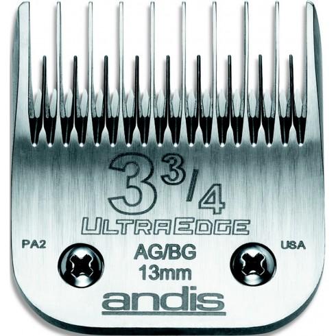 photo de Lame 13 mm N°3-3/4 dents espacées ANDIS, tête de coupe TC64133 pour tondeuse PRO AGC/AGR/BGC/MBG/SMC