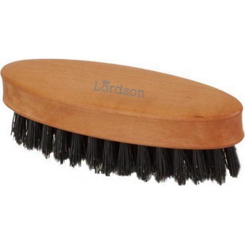 photo de Brosse Barbe & Moustache Ovale 10 rangs 11.3cm Poirier, pur poil sanglier LORDSON