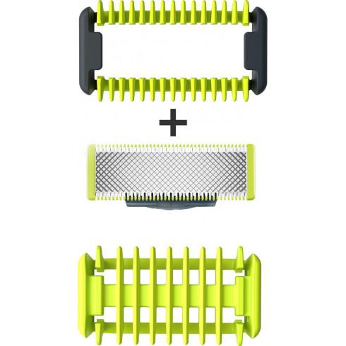 Philips OneBlade QP610/55, lame pour corps avec sabot 3mm de protection zones sensibles