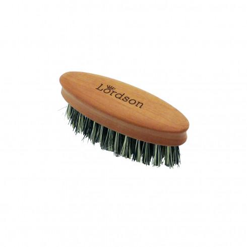 Brosse Barbe&Moustache Ovale 5rangs 83X27mm Vegan, Poirier, fibre Cactus LORDSON