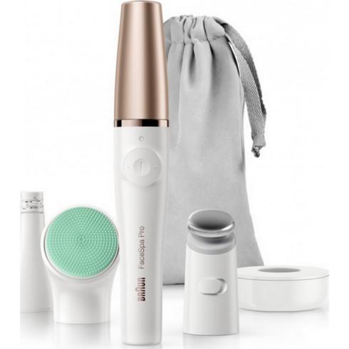 Épilateur Face Spa SE913 BRAUN facial Pro, brosses de nettoyage et raffermissement de la peau
