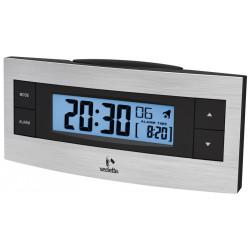 Réveil LCD noir métal très grand affichage VEDETTE