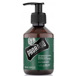 Shampoing à Barbe et moustache Rafraîchissant vert 200 ml PRORASO