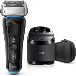Rasoir rechargeable W&D Black Séries 8 8365CC, Station Clean&Charge BRAUN