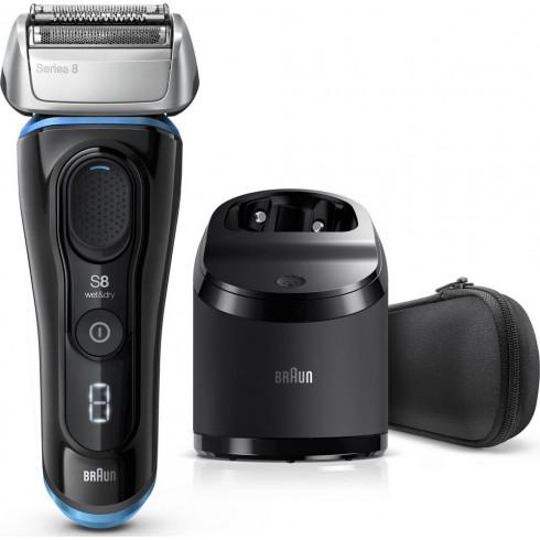 Rasoir rechargeable W&D Black Séries 8 8365CC, Station Clean&Charge BRAUN