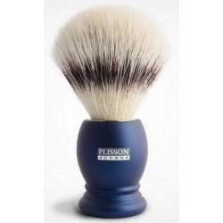 Blaireau PLISSON en Fibre blanche T12, Access manche bleu nuit