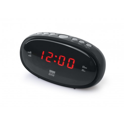 Radio reveil Analogique Tuner FM PLL double alarme NEW ONE