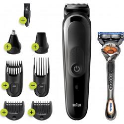Tondeuse Multi-usage BRAUN MGK5260, 8 en 1 : cheveux, barbe, nez-oreilles, corps, précision, de 0.5 à 21 mm