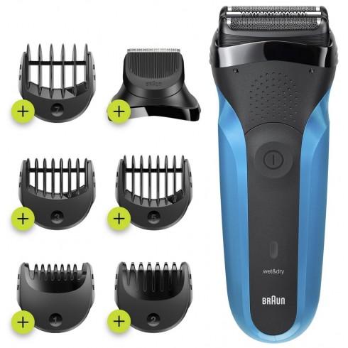 rasoir-rechargeable-series-3-bleunoir-tondeuse-barbe-5-sabots-1-a-7mm-braun