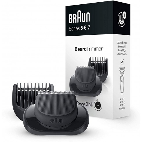 Accessoire Tondeuse barbe BRAUN EasyClicck pour Séries 5,6 et 7 5 sabots 1/2/3/5/7mm