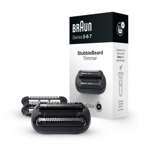 Tête Tondeuse BRAUN barbe de 3 jours EasyClick Séries 5,6 et 7, 4 sabots de 0.5 à 2.3mm