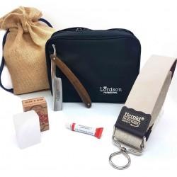 Trousse Kit Coupe Choux, cuir à lanière, pâte rasoir, Alun LORDSON
