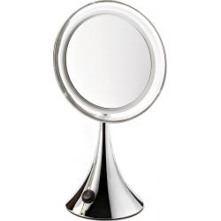 photo de Miroir lumineux grossissant X7 à pile argenté 19.5cm, (64906A)