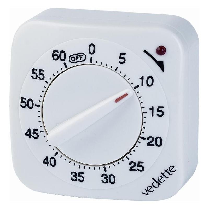 Achat en ligne minuteur quartz 60 minutes blanc vedette - Minuteur 10 minutes ...