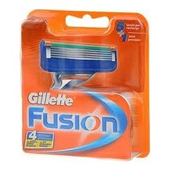 photo de Lames de rasoir Fusion Gillette, boîte de 4