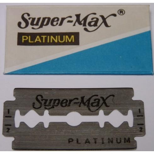 photo de Boîte de 5 Lames Platinium SUPERMAX pour Rasoir de Sureté