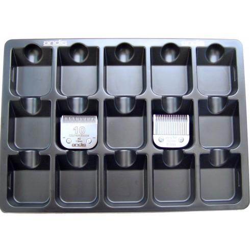 photo de Casier de rangement pour 15 têtes de coupe de tondeuse ANDIS