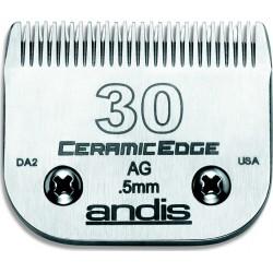 photo de Lame 0.5 mm N°30 céramique ANDIS, tête de coupe TC64260 pour tondeuse PRO AGC/AGR/BGC/MBG/SMC