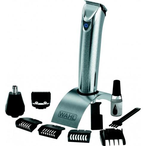 photo de Tondeuse WAHL 9818-116 barbe/body/cheveux rechargeable multi-usage inox brossé batterie lithium