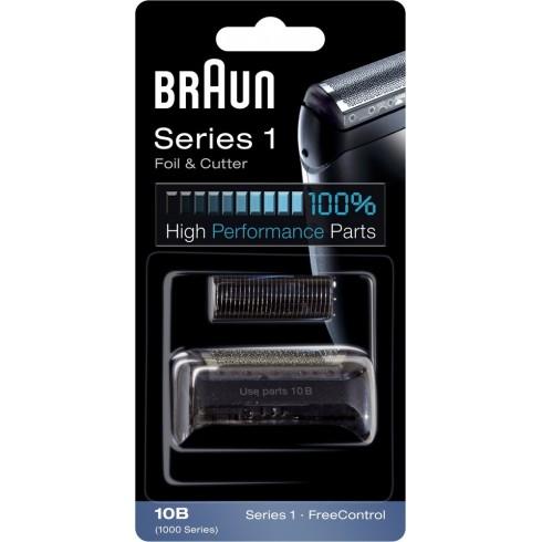 photo de Braun 10B Combi Pack, grille et couteau Black pour rasoir Séries 1/Free Control/cruzer face