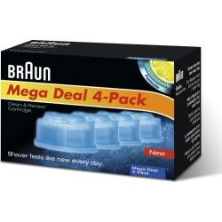 photo de Braun CCR4 Clean & Renew Pack de 4 cartouches liquide nettoyant pour bloc chargeur nettoyeur de rasoir électrique Braun