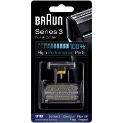photo de Braun 31B CombiPack, grille et couteau pour rasoir électrique séries 5/6000, Flex intégral et XP, Contour
