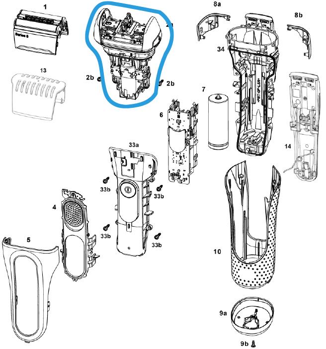 ensemble moteur 5020s braun