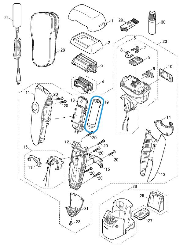 batterie LI-ION es lv65 panasonic