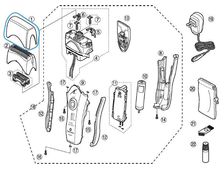 capot de protection panasonic es8807 e8